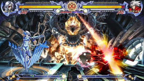 This is BlazBlue. I'm convinced its players are a race of mad robots.