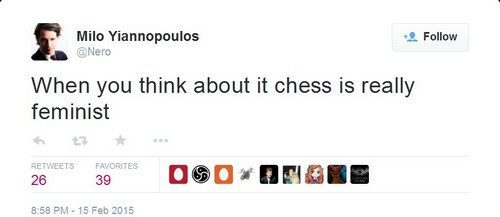 Chess is feminist