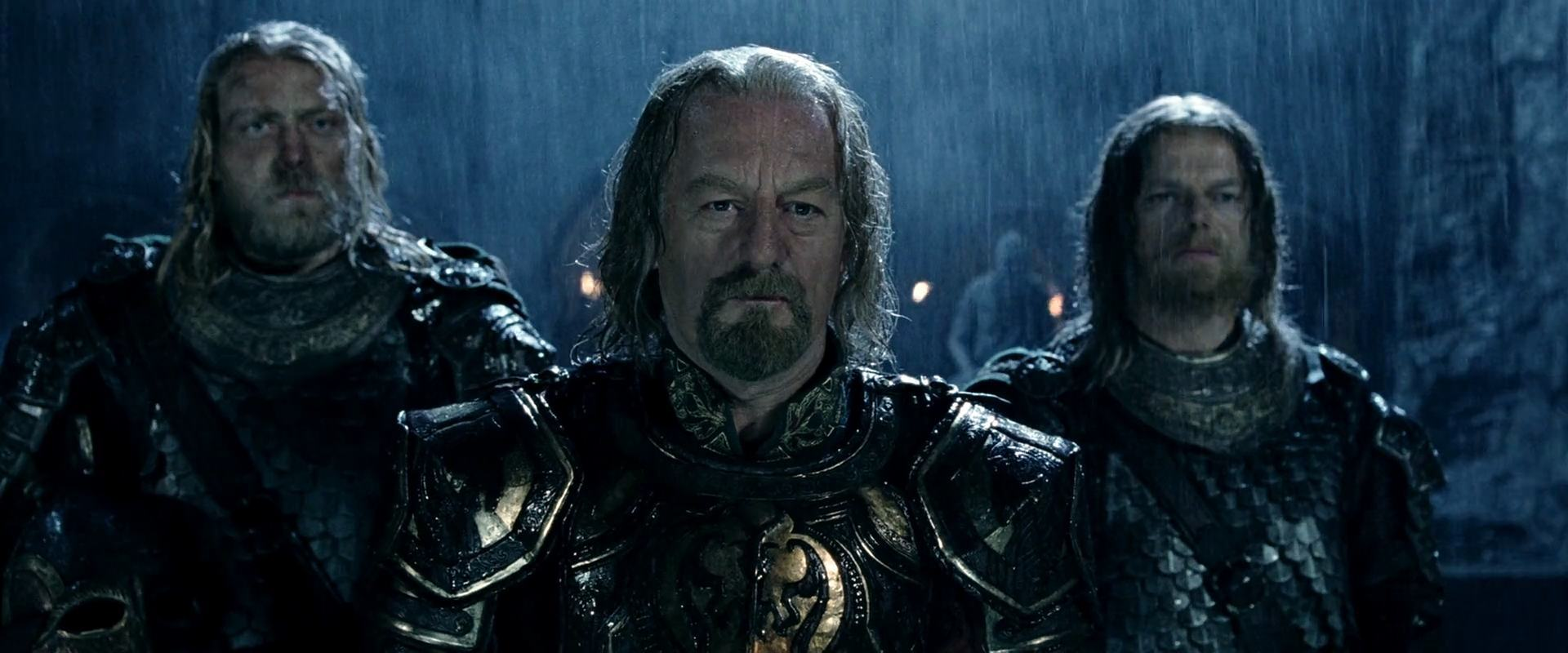 Theoden at Hornburg