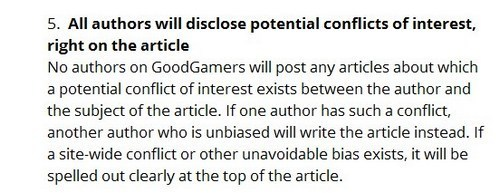goodgamer ethics