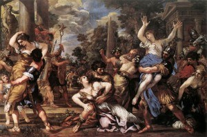 The story of the Rape of the Sabine women inspired many great Renaissance paintings.   Due to their subject matter, none of these paintings could ever be produced today.