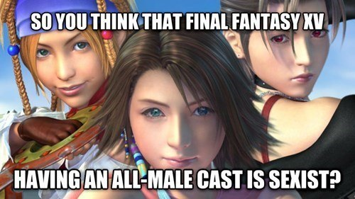 The cast of FFX-2
