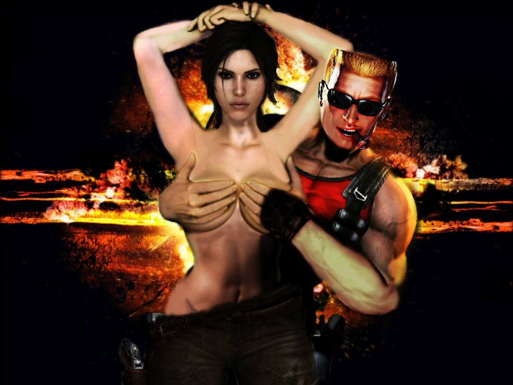 Duke misses Lara's old tits as well. (Artwork by xkalipso)