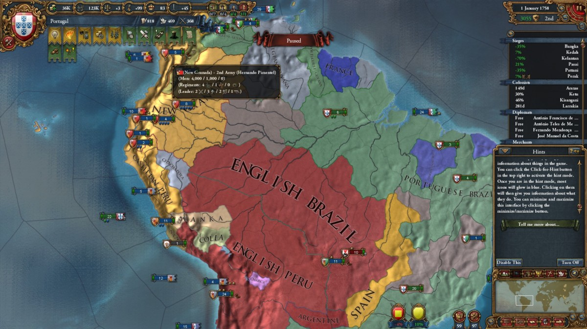 There is about to be large colonial war....