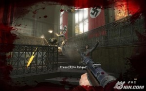 How most gamers interact with Nazis: by shooting them.