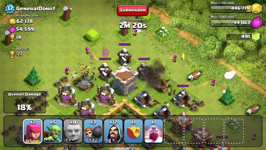 Clash-of-Clans-attack-and-defense