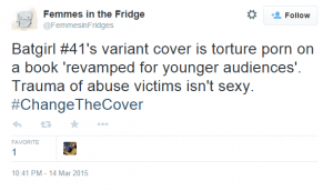 One of many feminists calling for the cover to be banned.