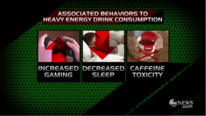 Drinking Redbull makes you stay up all night playing video games!  (Or maybe you drink Redbull so you can stay up all night and play video games?)