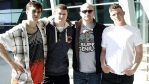 My brothers and my dad, me and my stupid haircut from AIT