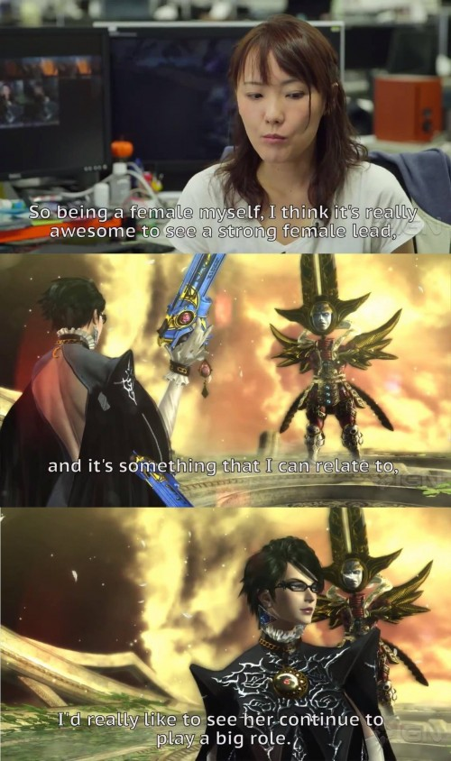 crazy woman appreciates bayonetta for her abilities, ignores her sexuality
