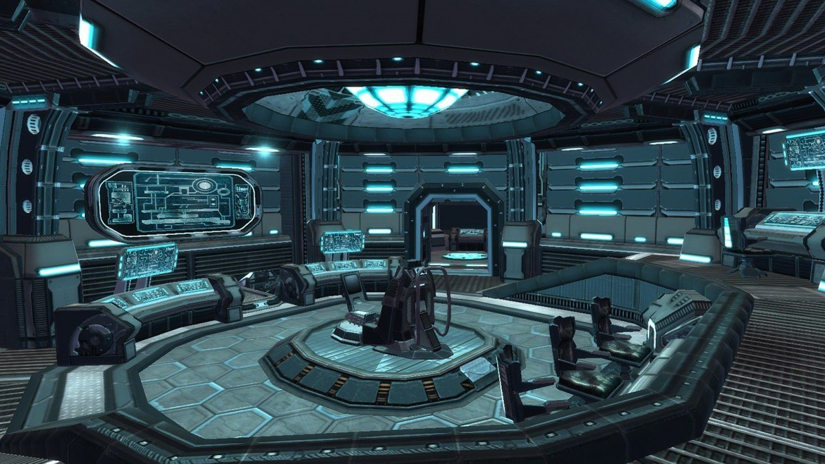 the bridge of the Starguard carrier level in Line Of Defense